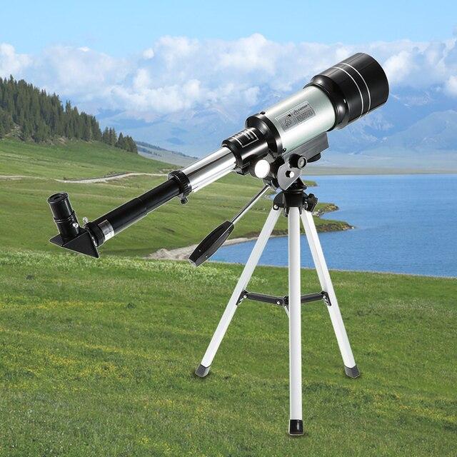 חיצוני HD טלסקופ 150X שבירה שטח האסטרונומי משקפת נסיעות אכון היקף עם חצובה ניידת מתכוונן מנוף