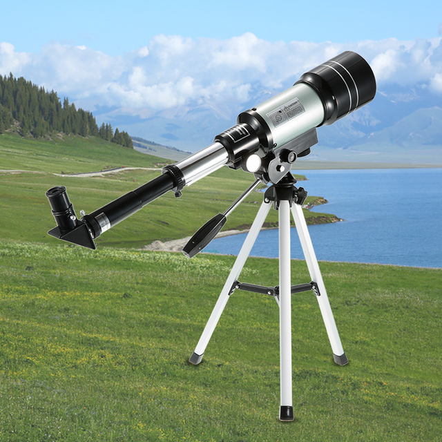 Outdoor HD Telescope 150X Refractive Space Astronomical Monocular Travel Spotting Scope With Portable Tripod Adjustable Lever
