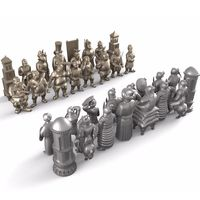 Personalized Chess 3D Model For 4 Axis Circular Diagram 3D Carved Sculpture Cnc Machine In STL