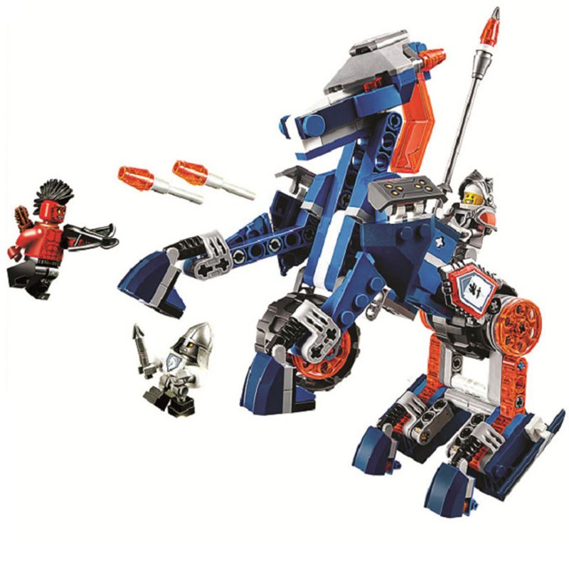 LEPIN Nexo Knights Lance's Mecha Horse Combination Marvel Building Blocks Kits Toys Compatible Legoings Nexus 70312 robotics lepin nexo knights jestros volcano lair combination marvel building blocks kits toys compatible legoings nexus legoings