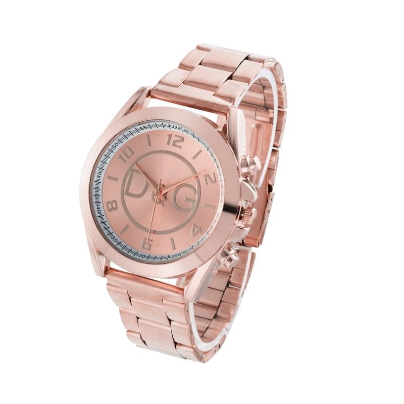 Zegarek Damski Luxury Brand Rose Gold Women Watch Unisex Casual Quartz Watches Ladies Fashion All Steel Wristwatch Reloj Mujer