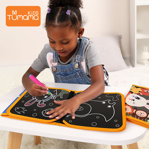 Image 1 - Tumama Cloth Books Portable Blackboard Book Can Repeatable Painting Educational Toys For Children Multifunction Montessori Toys
