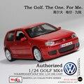 Envío Libre VW Golf MK4 R32 Rojo de Fundición Modelo de Coche Maisto 1/24