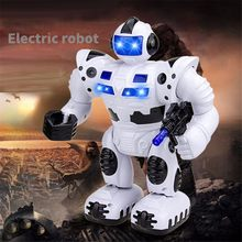 New Design Simulation Intelligent Robots Children Toys Flashing Walking Speech Walking Electric Robot Kids Toys Christmas Gift(China)