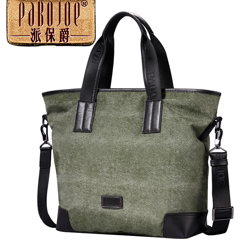 2018 new Pabojoe brand Men Messenger Bag Casual High capacity Shoulder Bag handbag Canvas bolsa feminina free shipping handbag shengdilu brand new 2018 women genuine leather high end tote shoulder messenger bag free shipping bolsa feminina