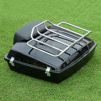 5.5 Razor Tour Pak Pack Trunk Top Rack Backrest For Harley Touring Road Glide 97 13 Motorcycle