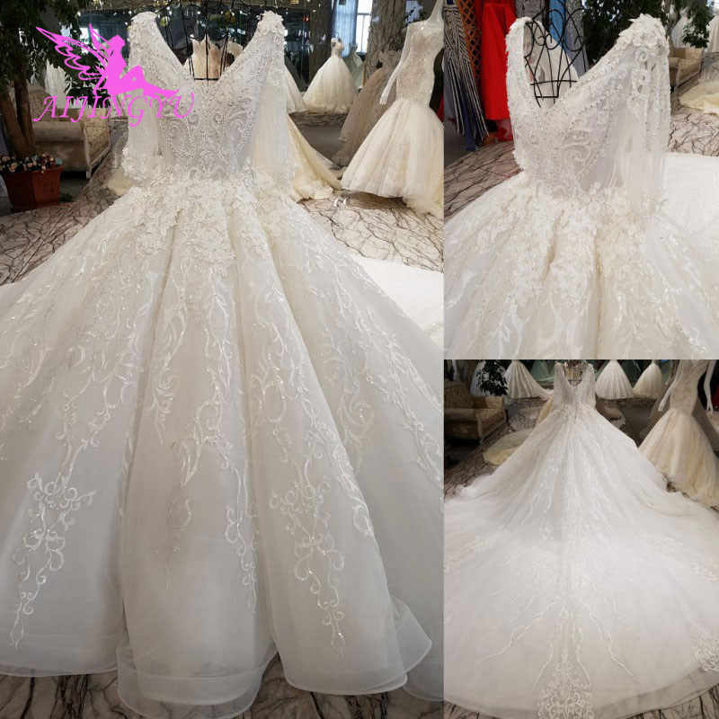 AIJINGYU Wedding Gowns Canada Buy Luxury Marriage Online In Turkey Two In One 2019 Sexy Veil Wedding Bridal Shops