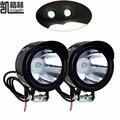 4 UNIDS 12-80 V 3 W Linterna de La Motocicleta Moto Spotlight Blanco Faro Noche Luz de Conducción