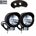 4PCS 12-80V 3W Motorcycle Headlight Motorbike Motor Spotlight White Headlamp Night Driving Light