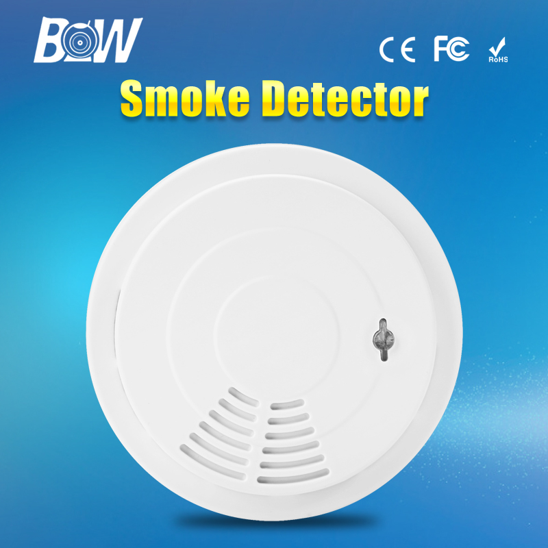 bw wireless home security alarm system sensitive smoke detector accessory siren for surveillance. Black Bedroom Furniture Sets. Home Design Ideas
