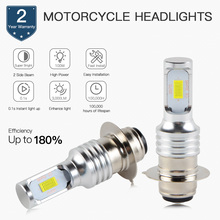 Bevinsee Motorcycle LED Headlight Bulbs P15D 6500K Moto Head Light For YAMAHA Banshee 350 YFZ350 1987-2006 Bright Lamps