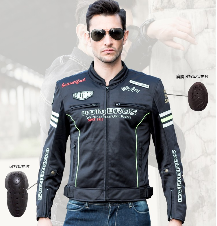 Uglybros summer breathable mesh protective jacket motorcycle racing jacket motocross jacket Men's vintage motorcycle jacket серьги bijoux серьги page 9