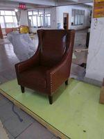Корова реальный натуральная кожа диван в гостиной стул мебель для дома современный американский стиль страна стул отдыха масло воск кожано