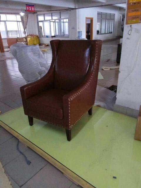 Kuh Echte Echtem Leder Sofa Wohnzimmer Stuhl Wohnmöbel Moderne Amerikanische  Landhausstil Freizeit Stuhl öl Wachs Leder