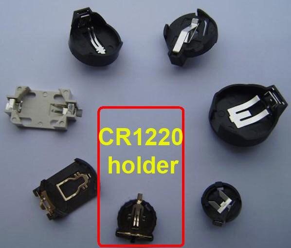 800 шт./лот SMT CR1220 кнопки сотового держатель батареи 3 В литиевая батарейка клипы гнездо (CR1220-2 ER)