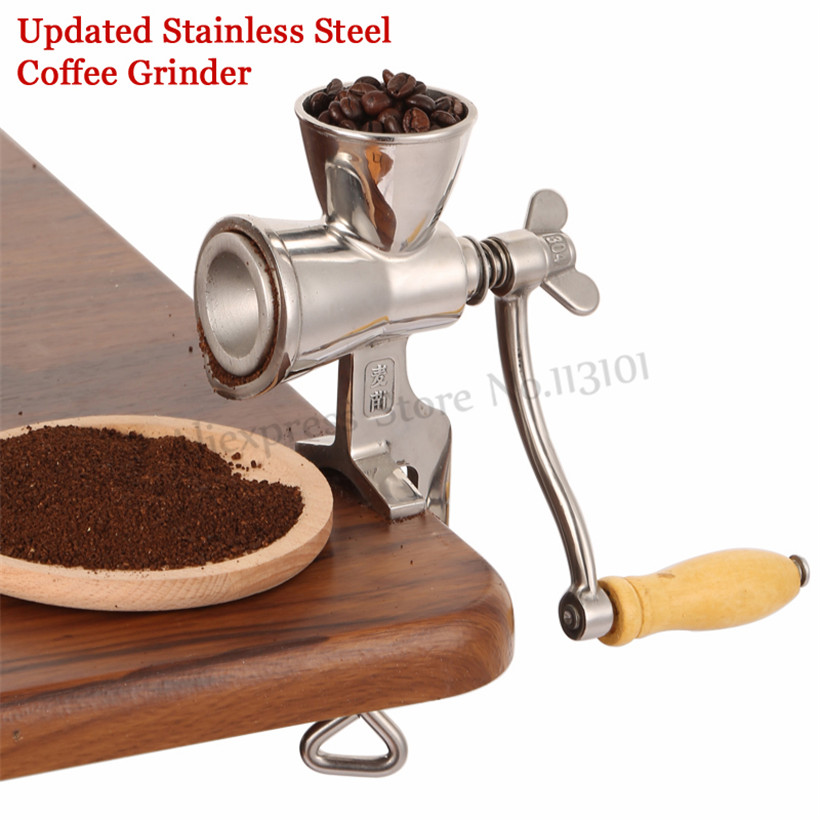 Upgraded Stainless Steel Flour Mill Coffee Bean Grinding Miller Manual Corn Grinding Machine for Maize Flour with Hand Crank household small manual corn sheller hand maize thresher machine