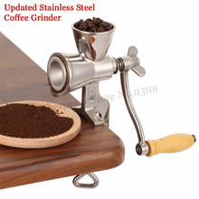 Upgraded Stainless Steel Flour Mill Coffee Bean Grinding Miller Manual Corn Grinding Machine for Maize Flour with Hand Crank цена