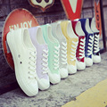 The new college white canvas shoes female spring and summer Korean white shoes women casual shoes students shoes