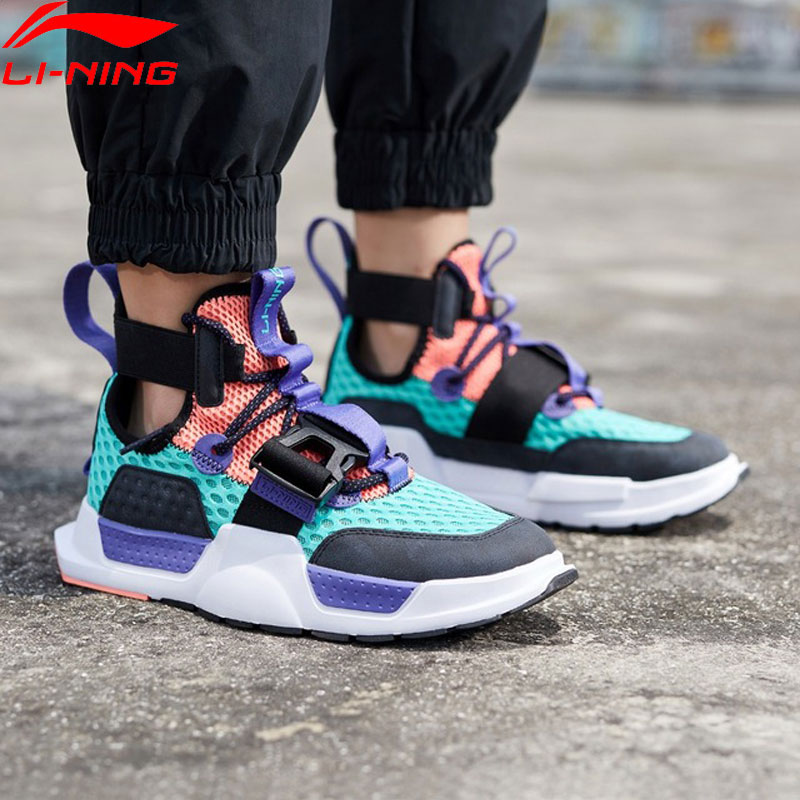 Li Ning Men REBURN WS Basketball Culture Shoes High Cut Breathable Wearable LiNing Fitness Sport Shoes