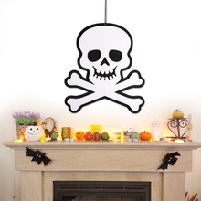 Non-Woven Wall Signs Halloween Skull Hanging Door Decorations Home School Party Decoration Holiday Accessories