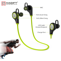 Magift6 Bluetooth Wireless Earphone With Micphone Handsfree For Smartphone Sports Noise Cancelling Stereo Bluetooth Earphones