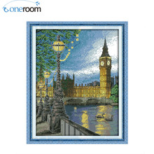 London bell tower Patterns Counted Cross Stitch Diy 11CT 14CT Cross Stitch Set Landscape Cross-Stitch Kit Embroidery(China)