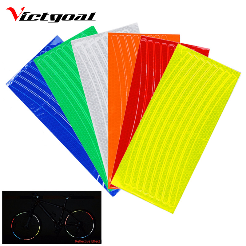 Bicycle Stickers Reflective Bicycle Accessories Bike Light Wheel Rim Stickers Cycling MTB Stickers For Bike Cycling Accessories