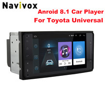"Navivox 7"" Android 8.1 4 Core 2Din Car Media Player for Corolla E120 Toyota RAV4 Hilux Fortuner Innova Prado No DVD(China)"