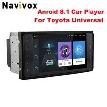 """Navivox 7 """"Android 8.1 4 Core 2Din Lettore Multimediale Dell'automobile per Corolla E120 Toyota RAV4 Hilux Fortuner Innova Prado no DVD"""