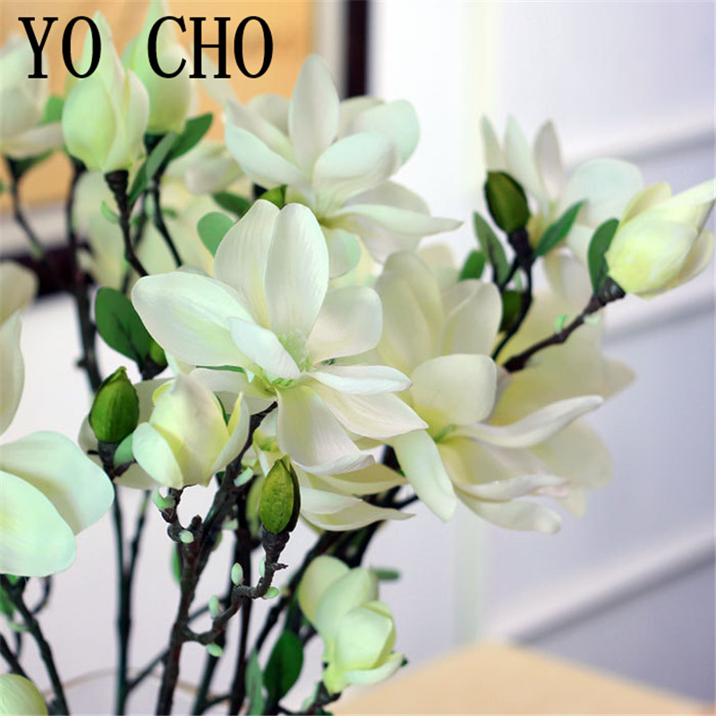 81cm 4 color 6pcslot wholesale high quality larrge artificial 81cm 4 color 6pcslot wholesale high quality larrge artificial silk magnolia flowers for wedding party hotel home decoration in artificial dried mightylinksfo