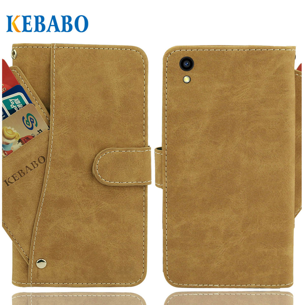 "Vintage Leather Wallet Elephone A2 Pro Case 5.45"" Luxury 3 Front Card Slots Cover Magnet Stand Phone Protective Bags"