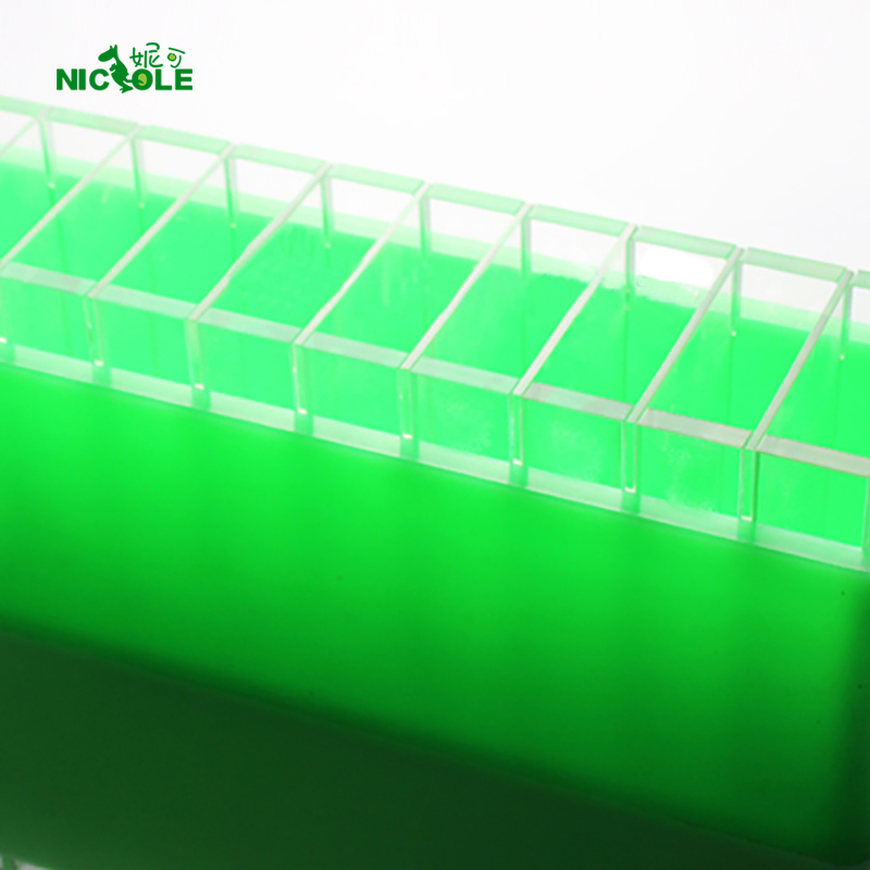 Silicone Soap Mold With Crosswise Dividers For Handmade Swirl Mould