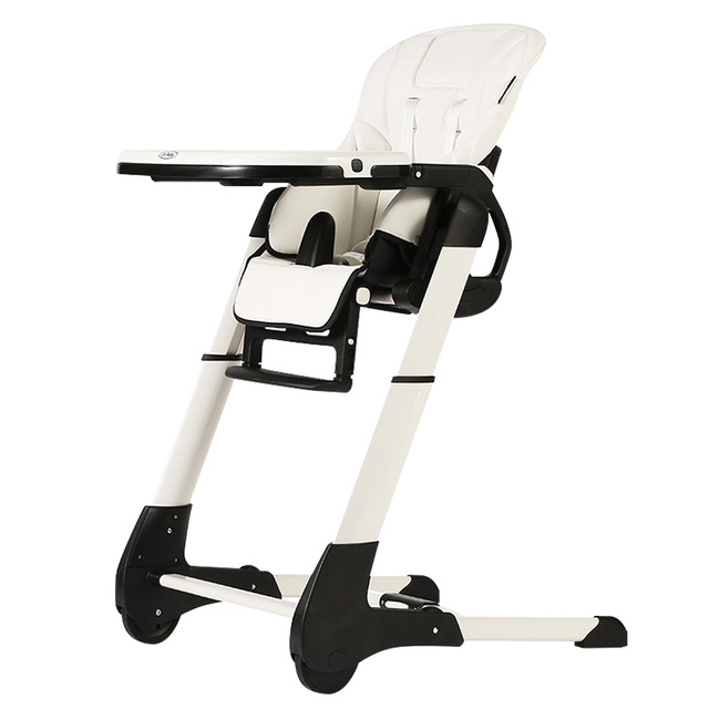 seat high chair cover factory suppliers ch baby 4 in 1 leather dinning highchair fold feed with pp plastic tray white