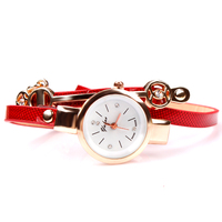 Free Shipping 2016 Fashion Value Bracelets Watches With 3 Row Shining Leather And Metal Decoration