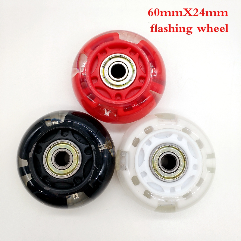 Free Shipping Roller Skates Flashing Wheel Children 60 Mm 64 Mm