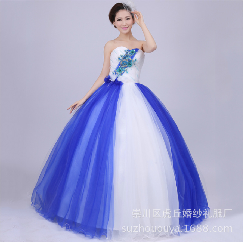 2019 Fashional jeunes filles Important événement robe sans bretelles perlée taille une ligne longueur de plancher Quinceanera robe