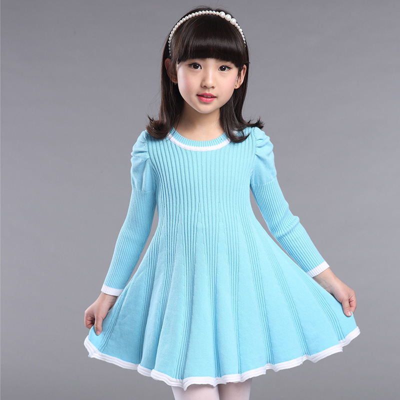 4a06168d854 Knitted Sweater Dress Pullovers Sweaters With Lace Shrugs Dresses Crochet  Long Girls Sweater Autumn Winter Kids Boutique Outfits-in Dresses from  Mother ...