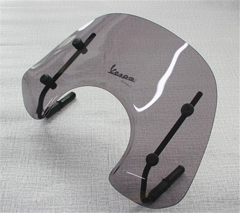 Smoke Motorcycle Windshield Wind Deflectors Windscreen For Vespa LX150 LX125 LX50