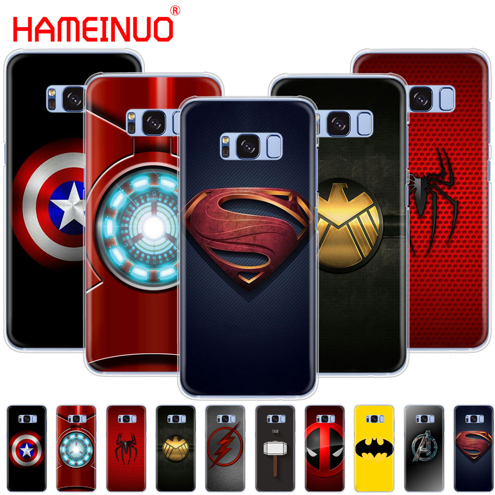 HAMEINUO die <font><b>avengers</b></font> Super hero logo handy fall abdeckung für <font><b>Samsung</b></font> <font><b>Galaxy</b></font> S9 <font><b>S7</b></font> rand PLUS S8 S6 S5 s4 S3 MINI image