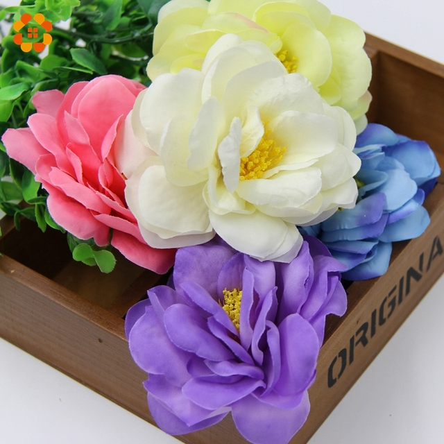 10pcs diy big size artificial silk flowers head for home wedding 10pcs diy big size artificial silk flowers head for home wedding party wedding car corsage mightylinksfo Choice Image