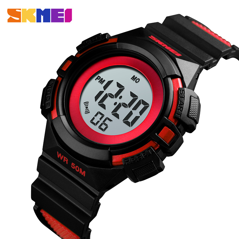 SKMEI Kids Watches Waterproof Chronograph Children Wrist Watch Fashion Sport Bracelet Luxury Luminous Led Electronic Alarm Clock