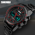 2016 SKMEI Brand Fashion Men Watches Full Steel Men's Quartz Hour Clock Analog Digital LED Watch Sports Military Wrist Watch