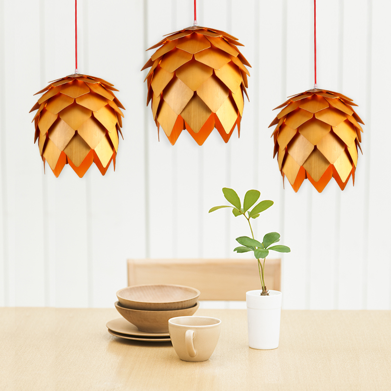Denmark Art OAK Wooden Pinecone Pendant Lights Hanging Wood PH Pendant Lamps Dinning Room Restaurant Retro Fixtures Luminaire skagen denmark ожерелье