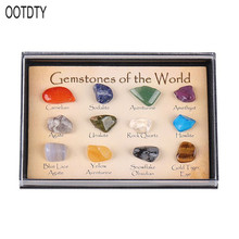 Creative Handcraft Natural Polished Crystal Gemstone Identification Card Collector Kit For Embellishment Decoration Friends
