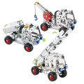Car Metal Brick DIY Model Construction Set Educational Toy 3D Laser Cut Stainless Steel Metal Models Block Kits@#MWLXC