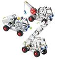 Car Metal Brick DIY Model Construction Set Educational Toy 3D Laser Cut Stainless Steel Metal Models Block Kits@#MWLXC