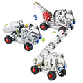 Carro de metal tijolo conjunto diy modelo de construção 3d brinquedo educativo modelos de corte a laser de metal em aço inoxidável bloco kits @ # mwlxc