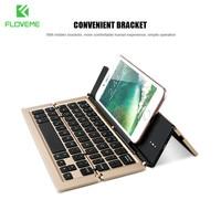 FLOVEME Uniwersalny Tabletki Bluetooth Wireless Keyboard Dla iPhone 6 7 6 s 7 Plus 5S SE Dla iPad Powietrza 1 2 IOS Android Telefon Stoisko
