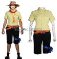 One piece Portgas D Ace Cosplay Costume Shirt+pants+leg bag+belt+hat+necklace+armcover