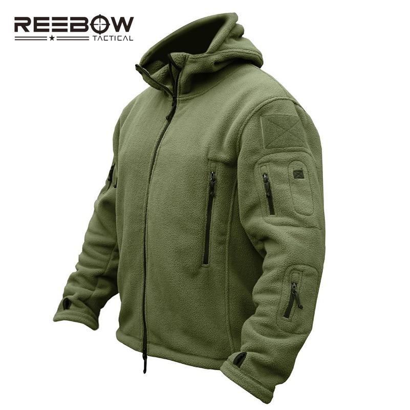 REEBOW GEAR Тактическая шерсть полартек Куртка мужчин термический воздухопроницаемый US армия военный Стиль закрытый Пальто спортивный на откры...